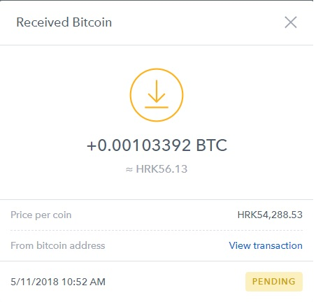 BTC withdrawal